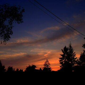 lines on  sky  by Eugenio