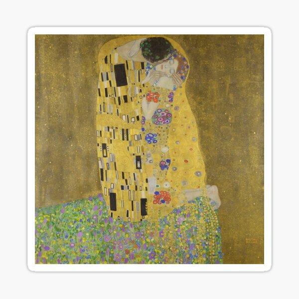 Gustav Klimt - The Kiss, Art Nouveau / Jugendstil Sticker