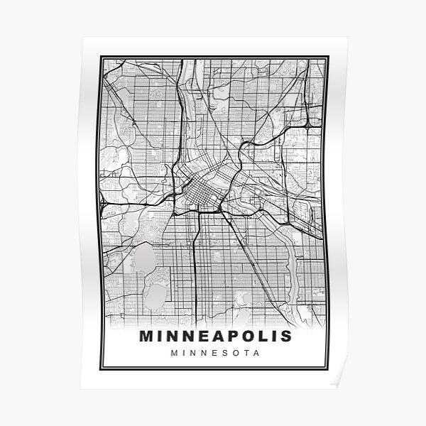 Minneapolis Map Poster