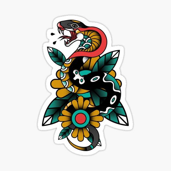 Snake Tattoo design Sticker