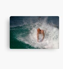 Bodysurfing Point Panic 2 Canvas Print