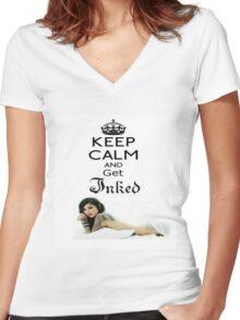 LA Ink Kat Von D Inked Women's Fitted V-Neck T-Shirt