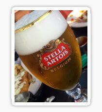 Stella Artrois Beer Glass Sticker