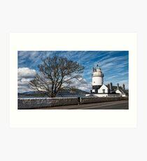 Cloch Lighthouse at Gourock, Inverclyde in Scotland Art Print