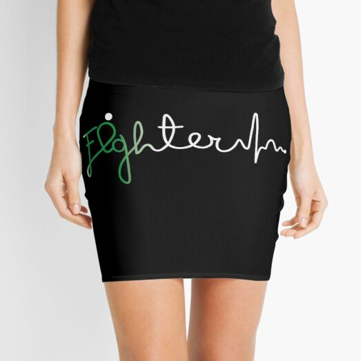 Fighter- Depression Awareness Gifts for Women Depression Support Ribbon Mini Skirt