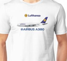 Illustration of Lufthansa Airbus A380  Unisex T-Shirt