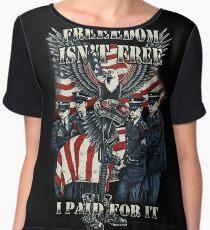 Veteran-Freedom Isn't Free Chiffon Top