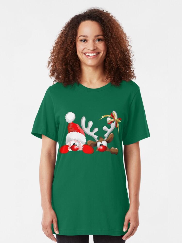 Cartoon Reindeers Christmas Funny Hoodie Sweatshirt
