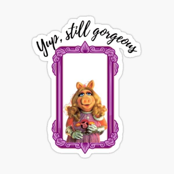 Fräulein Piggy lustiges Zitat Sticker