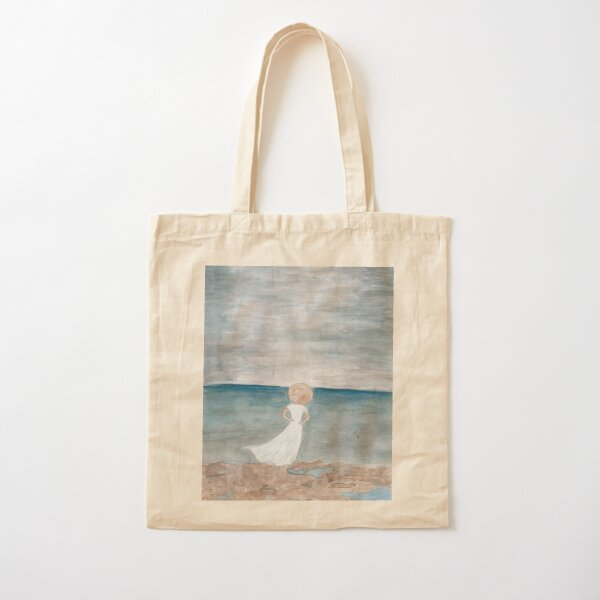 Stormy Beach Day Cotton Tote Bag