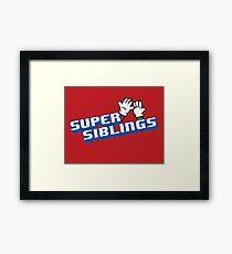 Super Siblings! Framed Print