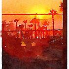 palmy sunset by vanhagen