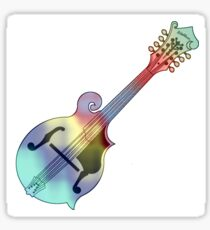 Tie dye Mandolin Sticker