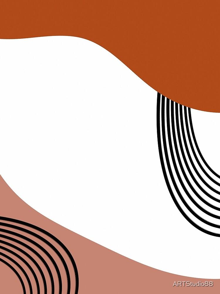 Minimalist modern orange mid century  by ARTStudio88
