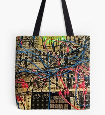 Synthesizer Control Panel Cable Maze Tote Bag