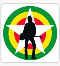 Strummervile silhouette Sticker