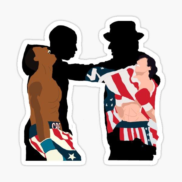 Creed y Rocky Pegatina