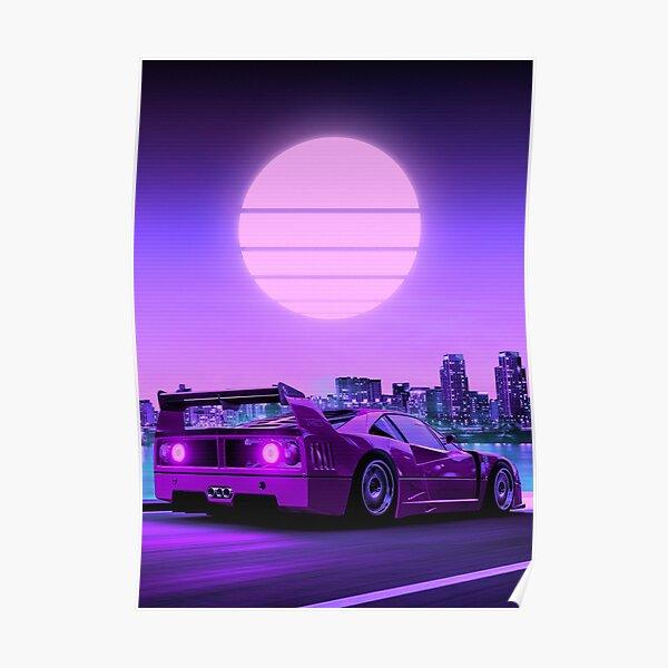 F40 Sunset Poster