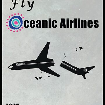 Fly Oceanic Airlines Print by ThreadofLife