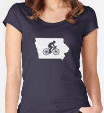 Iowa Bike IA  Women's Fitted Scoop T-Shirt