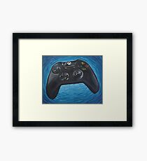 Blue Impressionist XBOX One Controller Framed Print