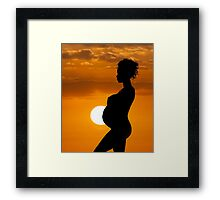 Mother and Sun Framed Print