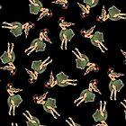 Hula Girl Dancing the Hula by Frank Schuster