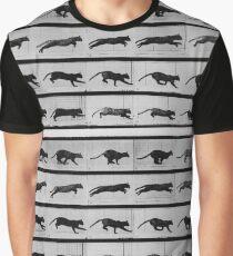 Muybridge Study - Cat Leaping Graphic T-Shirt