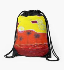 Bubble Flowers and Dandelions Seeds Drawstring Bag