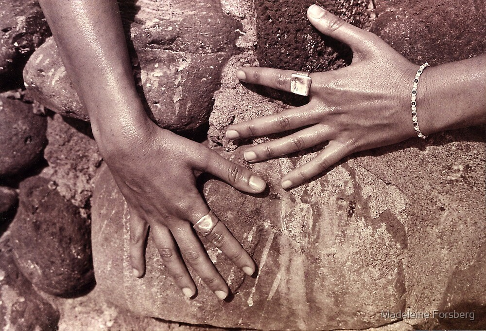 Hands On The Rocks by Madeleine Forsberg