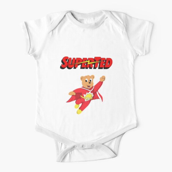 Superted Cartoon  Short Sleeve Baby One-Piece
