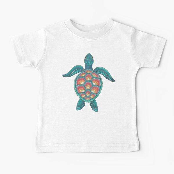 Mandala Turtle Baby T-Shirt