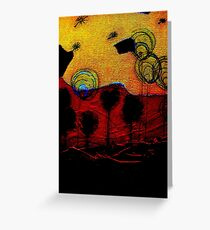 Bubble Flowers at Sunset Greeting Card