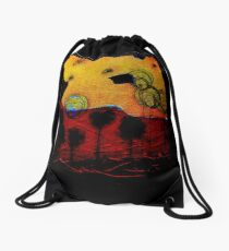 Bubble Flowers at Sunset Drawstring Bag