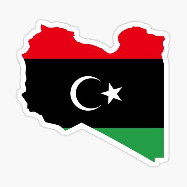 Flag Map of Libya  Sticker