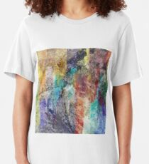 Form in Chaos Abstract Slim Fit T-Shirt