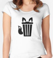 Furry Trash Icon Women's Fitted Scoop T-Shirt