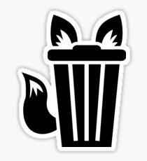 Furry Trash Icon Sticker