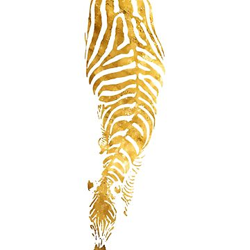 Abstract Zebra - version 5 gold by Supreto