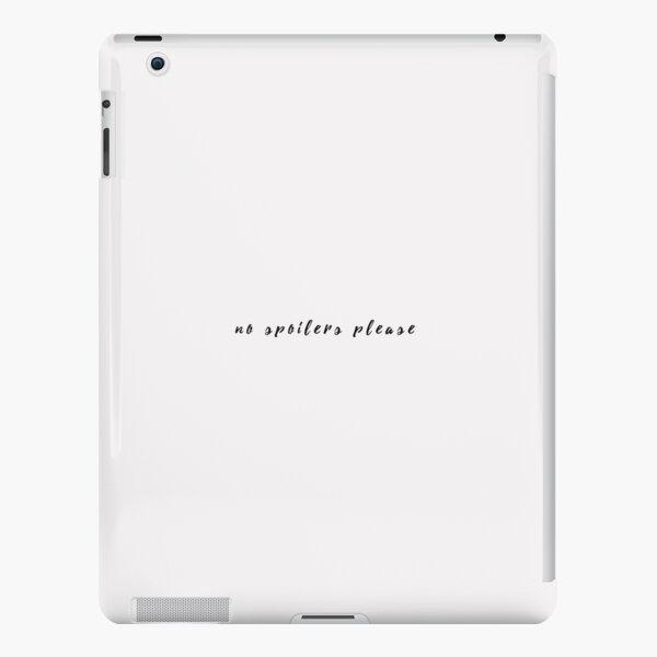 no spoilers, please. iPad Snap Case