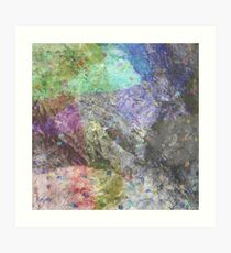 Multi Coloured Abstract Painting Art Print
