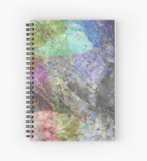 Multi Coloured Abstract Painting Spiral Notebook
