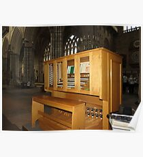 The Grand Organ Console, Exeter Cathedral Poster