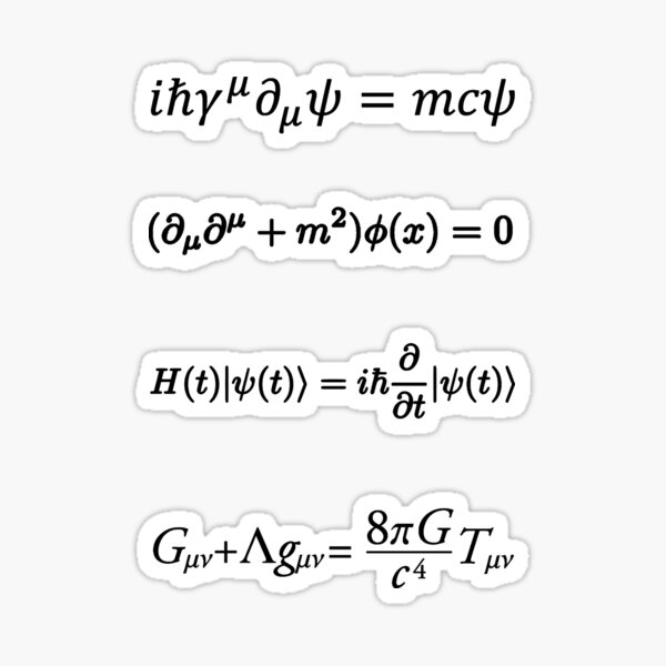 Theoretical physics equations Sticker pack Sticker