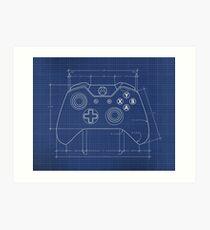 XBOX One Controller Blueprint Art Print