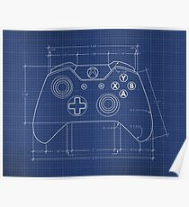 XBOX One Controller Blueprint Poster