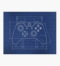 XBOX One Controller Blueprint Photographic Print