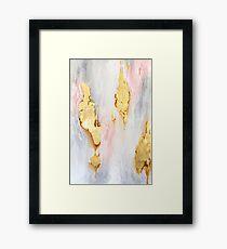 Gold Marble Framed Print