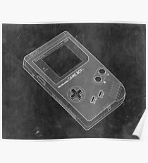 Distressed Nintendo Game Boy - Black & White Poster
