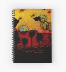 Bubble Flowers at Sunset Spiral Notebook